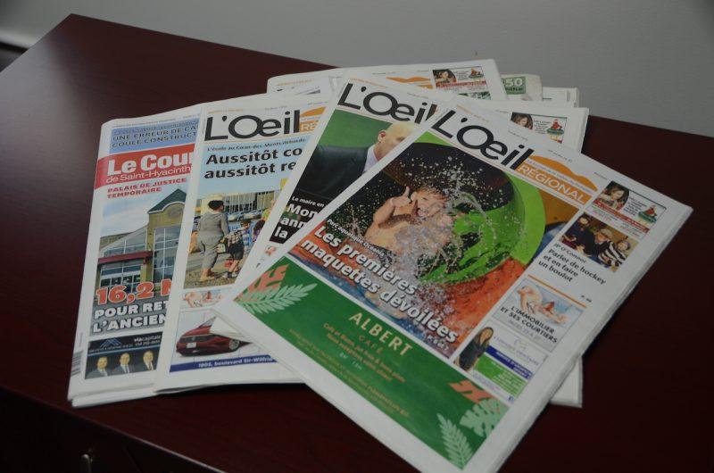 Les élus se sont prononcés sur l'avenir des médias locaux comme L'Oeil Régional. Photothèque | L'Oeil Régional