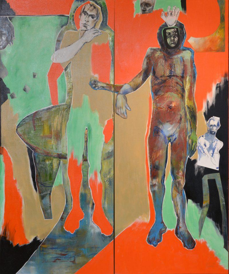Cette œuvre, exposée à l'entrée d'Arts Station, est en quelque sorte la « charnière » qui a amené Tania Lebedeff dans la nouvelle direction qu'elle a prise depuis. Elle devrait être présente à l'exposition pour montrer ce qui est à l'origine d'Emprunter le pas du temps. Photo François Larivière | L'Œil Régional ©