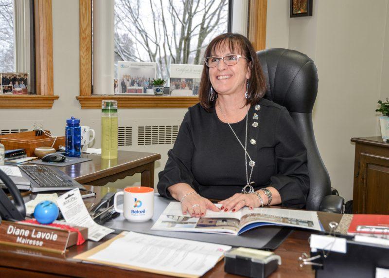 La mairesse de Belœil, Diane Lavoie.  Photo François Larivière | L'Œil Régional ©