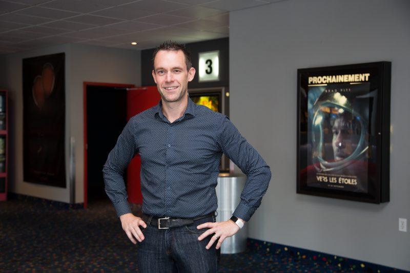 Le propriétaire du Cinéma Belœil, Guillaume Venne, a hâte de retrouver sa clientèle le 3 juillet. Photo Pascal Cournoyer | LŒil Régional ©
