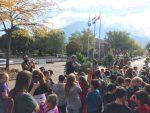 Les élèves du quartier de la gare réclament une école plus verte