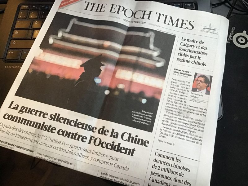 Des citoyens de la région ont reçu un journal de propagande dans leur boîte aux lettres, le 20 janvier. Photo gracieuseté