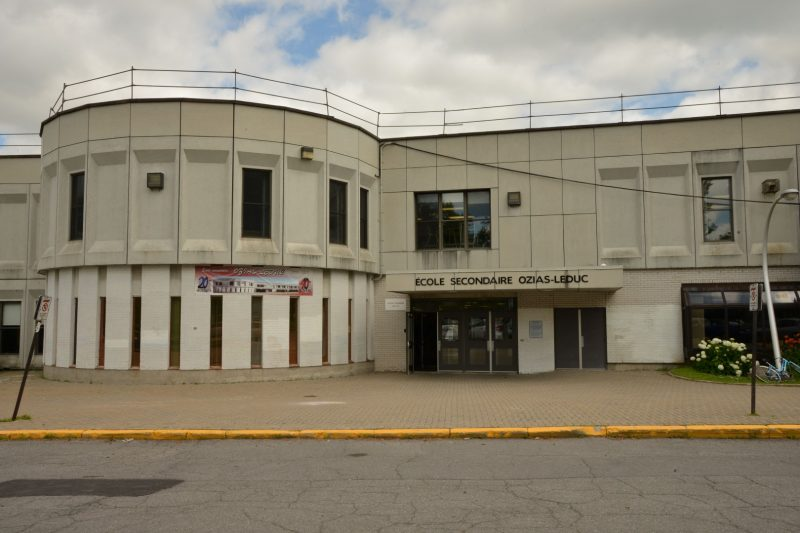 L'école secondaire Ozias-Leduc, à Mont-Saint-Hilaire Photothèque L'Oeil Régional