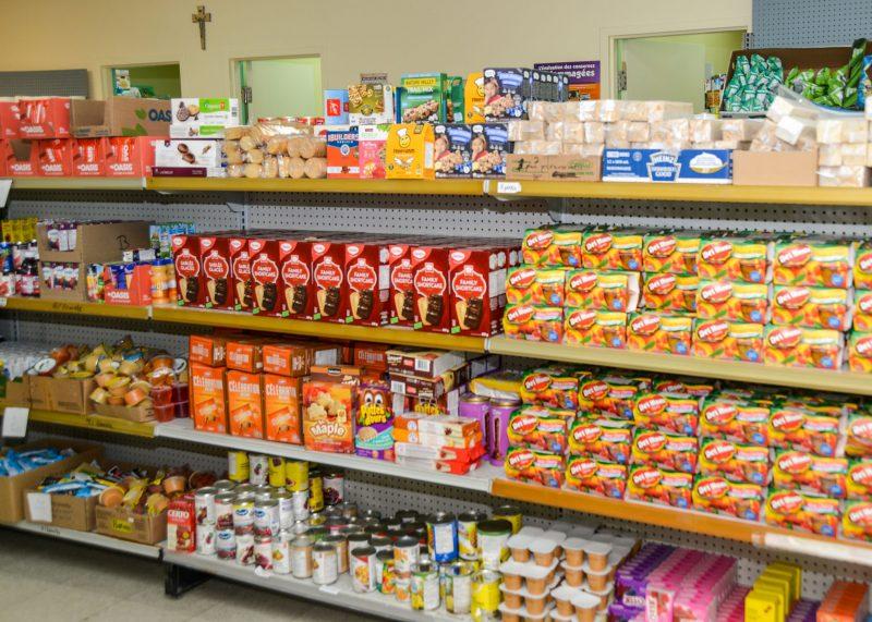 Le comptoir alimentaire des Chevaliers de Colomb. Photothèque | L'Œil Régional ©