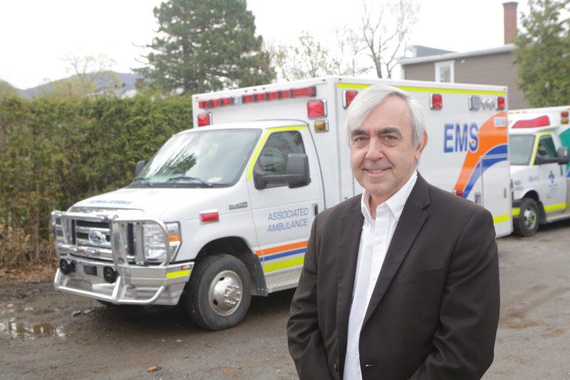 Alain Brunelle, président et chef de la direction de Demers Ambulances. Photo Robert Gosselin | L'Œil Régional ©