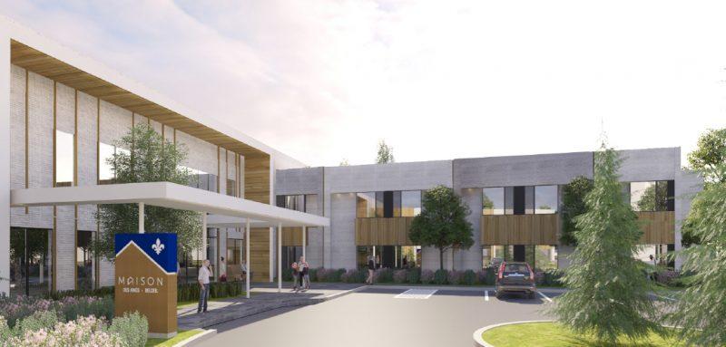 Le CISSS espère terminer la construction de la Maison des aînés de Belœil en juillet 2022 afin d'accueillir les premiers résidents à l'automne 2022. Photo gracieuseté
