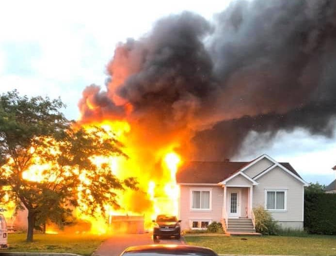 L'incendie s'est déclaré vers 20 h vendredi dernier. Photo gracieuseté