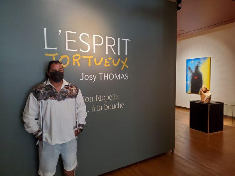 Le sculpteur de la nation Onondaga Josy Thomas présente pour la première fois une exposition solo à La Maison amérindienne. Photo gracieuseté