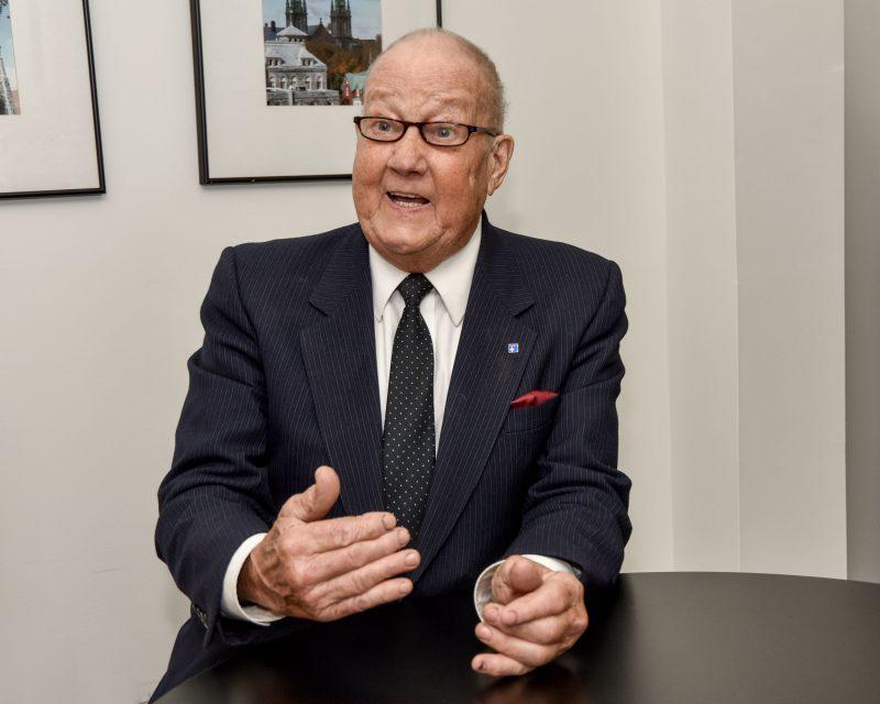 Michel Blondin, chef du Parti pour l'indépendance du Québec, tente sa chance pour une seconde fois dans Belœil–Chambly. Photo François Larivière | L'Œil Régional ©